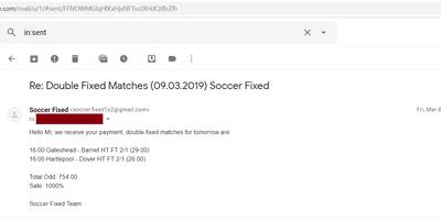 Fixed Match Offer, adibet predictions
