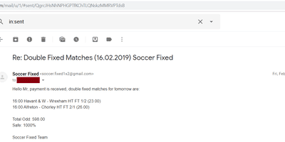 Fixed Match Offer, sure fixed matches