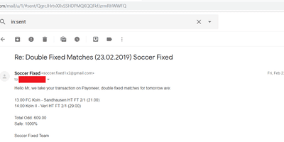Fixed Match Offer, fixed games sure