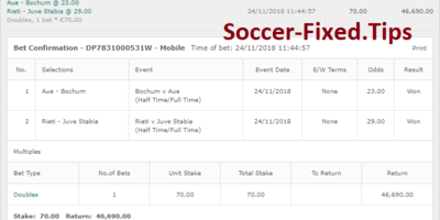 Fixed Match Offer, sure tips, safe fixed games, best soccer picks 1x2