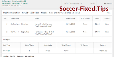Fixed Match Offer, safe matches, sure picks, fixed matches today