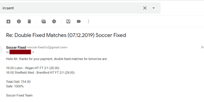 Correct Fixed Bets Matches