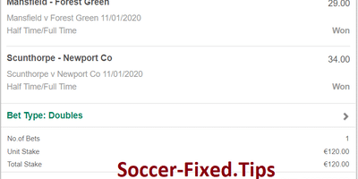 Real Fixed Matches Tips