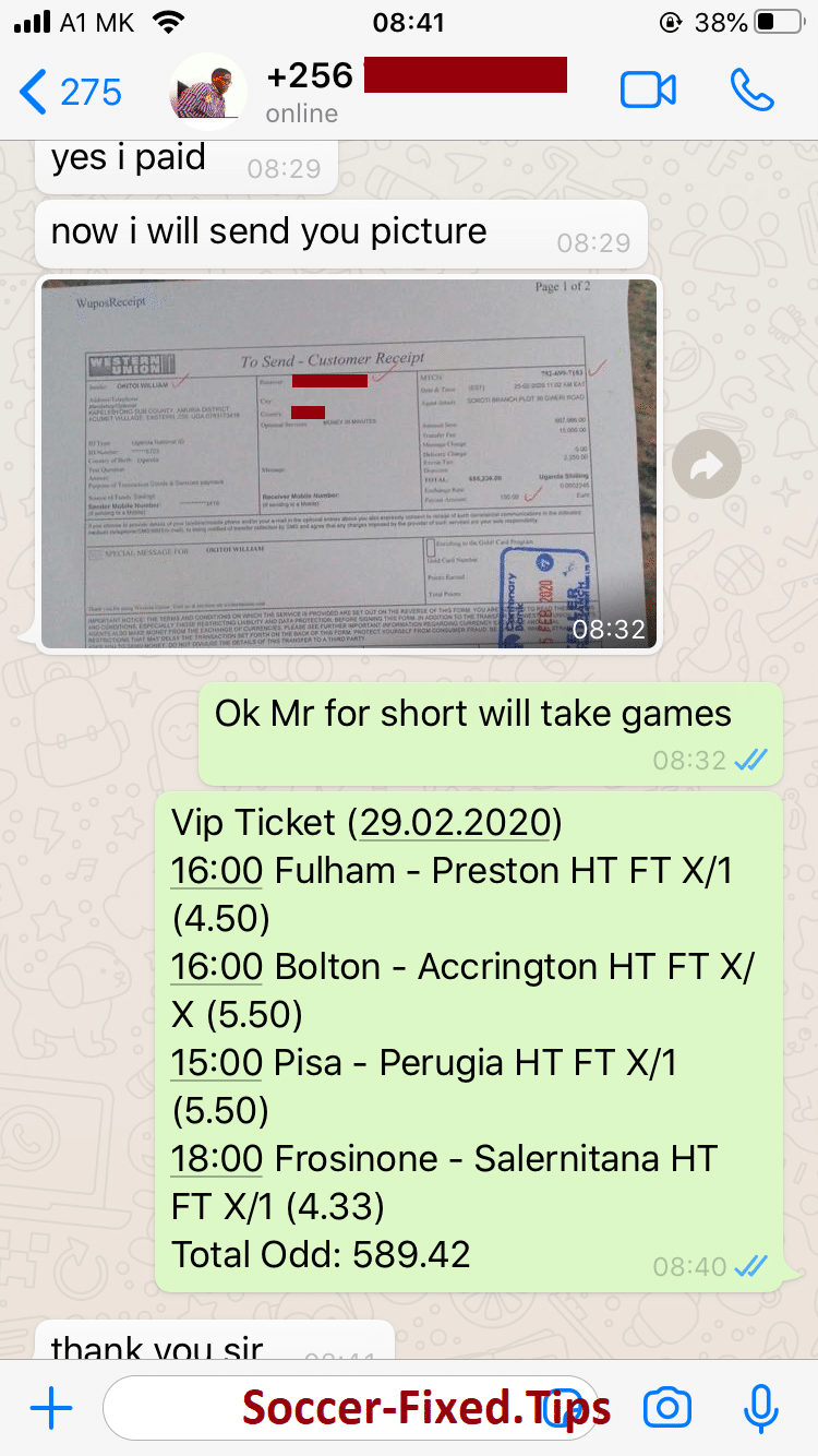 Soccer big odds VIP Ticket