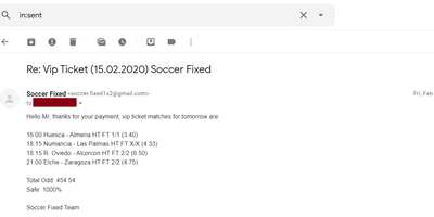 Fixed Matches Blog
