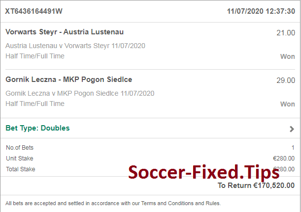 weekend fixed matches ht ft